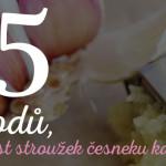 proč jíst česnek