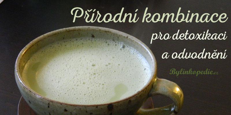Zelený čaj a mandlové mléko
