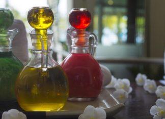 esenciální oleje – lahvičky